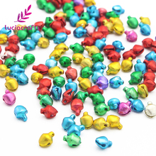 Lucia Crafts 144pcs/lot Christmas Bell Ornament Mixed Cute Jingle Bell Fit Party DIY Decoration Accessories 6mm 18020628(6L144)(China)