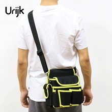 Urijk 2Sizes Oxford Tool Bag Outdoor Work Gardening Hand Tools Satchel Hammer Screwdriver Pliers Scissors Wearable Multifunction