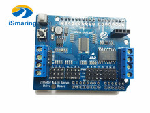 Official iSmaring 2-Way Motor & 16-Way Servo Shield Board Compatible with Arduino for Robot Arm diy RC Toy(China)