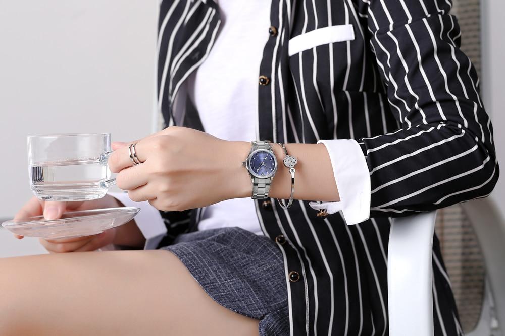 6 Fashion colors CHENXI CX021B Brand relogio Luxury Women's Casual watches waterproof watch women fashion Dress Rhinestone watch 24