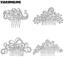 Buy XIAOJINGLING Hot Elegant Crystal Wedding Hair Jewelry Accessories Women Bridal Bridesmaid Hair Combs Diamante Pearl Jewelry for $1.46 in AliExpress store
