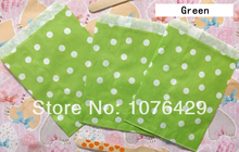 25 Pcs Green Polka Dot Treat Craft Bags Favor Food Paper Bags Party Wedding Birthday Decoration Color 10