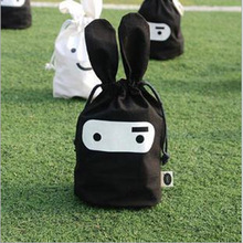 Cute Ninja Rabbit Storage Bag For Shoes Socks Clothing Fabric  Organizer Bags For Home Decoration Housekeeping Free Shipping 283