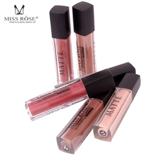 Wholesale Matte Lip Gloss Tint Waterproof Liquid Nude Lipstick Tattoo Pigment Long Lasting Batom Matte Miss Rose Makeup Lips(China)
