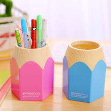 Free ship!1lot=6pc!Color pencil model pen container / desk creative multifunctional pen holders / desktop storage