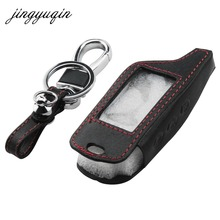 jingyuqin New B9 Leather Key Case for original Starline B9/B91/B6/B61/A91/A61/V7 C9 LCD Way Car Remote 2 Way Alarm