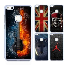 Cool Guitar Case for Huawei P10 Lite Premium Emoji Eiffel Tower UK Flag Skull Painted Back Case Mobile Phone Hard Shell(China)