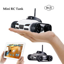 New 2017 Mini RC I-Spy Wifi Tank Robot 777-270 With 0.3MP Camera Remote Control By Iphone Android Phone RC tank kids toy(China)