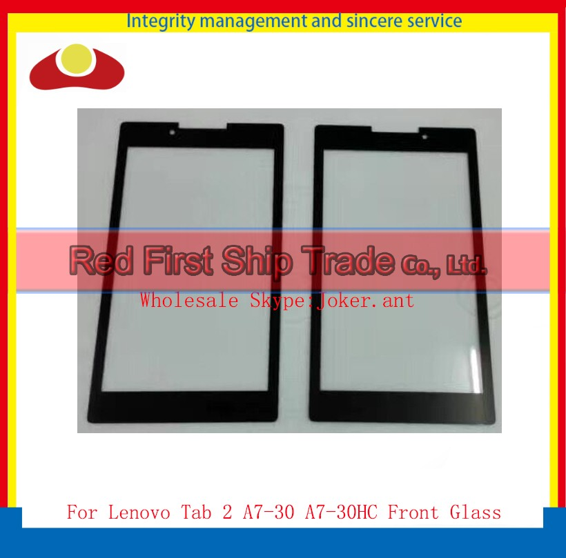 50Pcs/lot DHL EMS High Quality 7.0 For Lenovo Tab 2 A7-30 A7-30HC Front Glass Outer Glass Lens Panel Black Free Shipping<br><br>Aliexpress