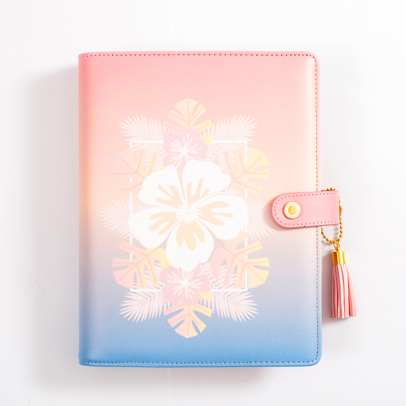 US A6 Loose Leaf Notebook Leaf Ring Leather Cover Weekly Binder Planner Diary ❤