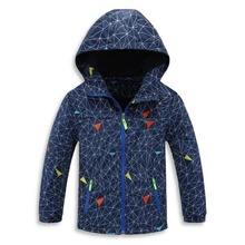 Children Boys Outwear Coats New 2017 Spring Fashion Waterproof Windproof Hooded Jackets For 3-12y Boys Brand Kids Sport Clothes(China)