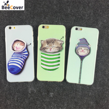BeeCover For iPhone 6 6s Plus 5 5s SE Case Socks Sleeping Cat Soft TPU Back Cover Shell Coque For iPhone6 6sPlus 6Plus Cases(China)