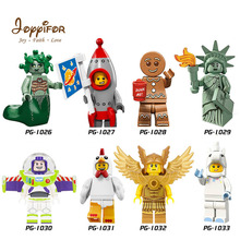 Joyyifor 2018 New Lot Compatible Toy Story LegoINGlys Woody Buzz Lightyear Statue Of Liberty Rex Andy Chen Best Gift To Children(China)