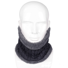 New Fashion Design Winter Knitted Scarves Men Women Plus Cotton Wool Collar Scarf Warmer Man Neck Scarf Unisex(China)