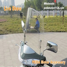 e bike Motorcycle Windscreens & Wind Deflectors Scratch resistant scooter windshield PC 1.6 mm Thickness For Chinese Scooters
