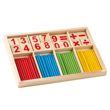 Montessori Wooden Number Math Game Sticks Box Educational Toy Puzzle Teaching Aids Set Materials(China)