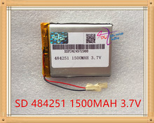 Liter energy battery 3.7V lithium polymer battery 1500mAh TELECT C430 GPS navigator 484251 recorder(China)