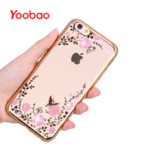 Yoobao I6K1 TPU Soft Plastic Casing Protective Back Film with Finger Ring Buckle Bracket Protector Case for iPhone 6 6S Plus(China)