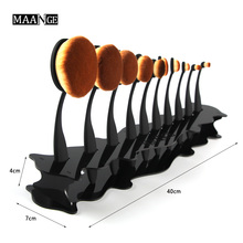 Acrylic Oval Makeup Brush Rack Toothbrush Organizer Holder Makeup Brushes Drying Stand Storage 4 Colors