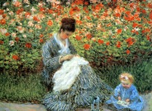 Camille Monet with a child 1875 High quality Claude Monet Canvas Art for sale Impressionist Painting Landscape Hand painted