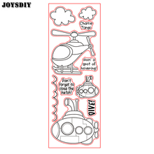 CHARLIE TANGO AIRPLANE SUBMARINE Scrapbook DIY photo cards account rubber stamp clear stamp transparent Handmade card stamp(China)