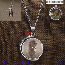 Hedgehog In The Fog Double Sides Rotatable 2 Logos New Design Lovely Pendant Necklace Fashion Jewelry Gift For Women Girls Kids(China)