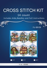 1TH Top Quality Lovely Hot Sell Counted Cross Stitch Kit Christmas Village Ornament dim 08785(China)