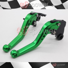 For KAWASAKI ZXR 400 ZZR 400 ZR-X400 GPZ 750 ZR 750 motorcycle accessories CNC billet aluminum short brake clutch lever Green