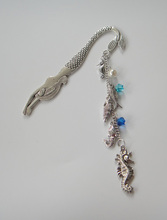 1pc antique silver Sea Horse Mermaid Beach bookmark for Sea Beach Jewelry Gifts(China)
