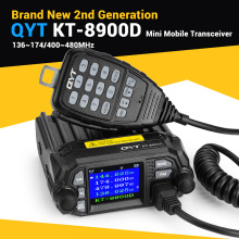 QYT Updated KT-8900D Car Radio Quad standby 136~174/400~480MHz Amateur Mobile Transceiver 25W With Microphone DTMF Keypad