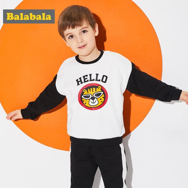 Balabala boys sweat tracksuits cute Animal Applique boys clothing set toddler boys spring custome Long Sleeve enfant Clothes<br>