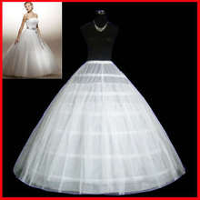 6 Hoops Underskirt for Bridal's Wedding, Maxi Ball Gown Wedding Dress Accessory, Quality 2 Layer Petticoat Length 105cm(41.3'')