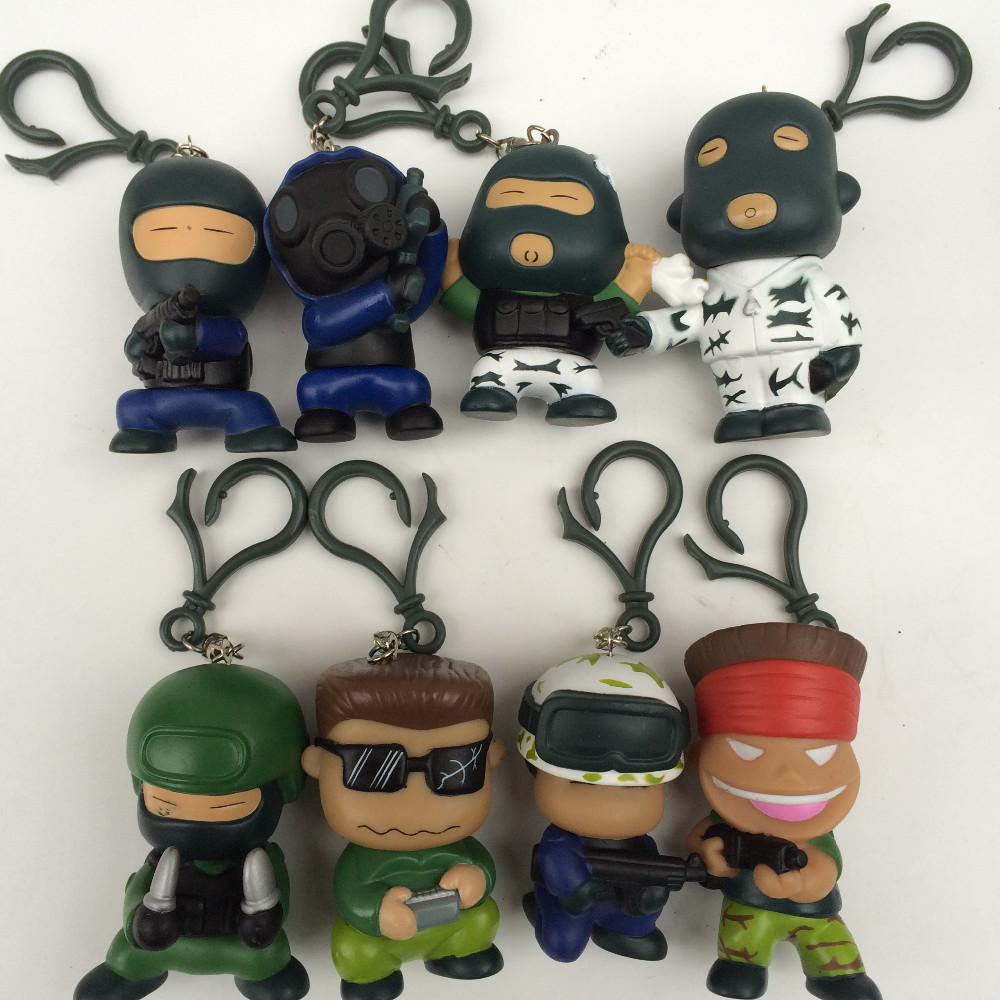 Classic role game Counter Strike 8pcs/set CS solider 8-10cm made in hollow  PVC Figure Key Chain Toys Dolls<br><br>Aliexpress