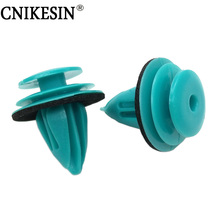 CNIKESIN Universal Blue Car Fender Interior Door Card and Trim Panel Clip Push Type Rivets Blue Auto Fastener Clips Car Styling(China)