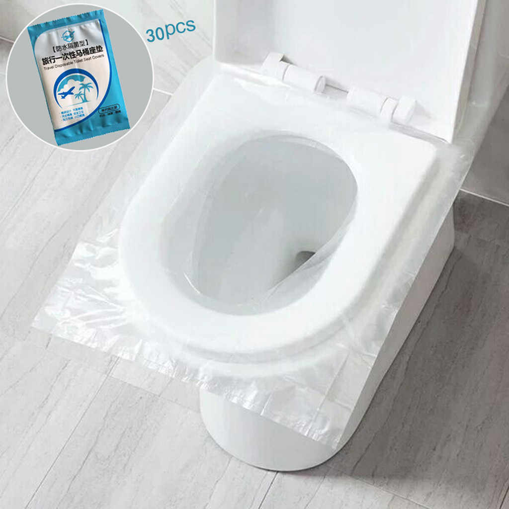 30pcs Toilet Disposable Sticker Toilet Seat Cover Business Travel Stool Healthy safety Personalized travel packaging new 522