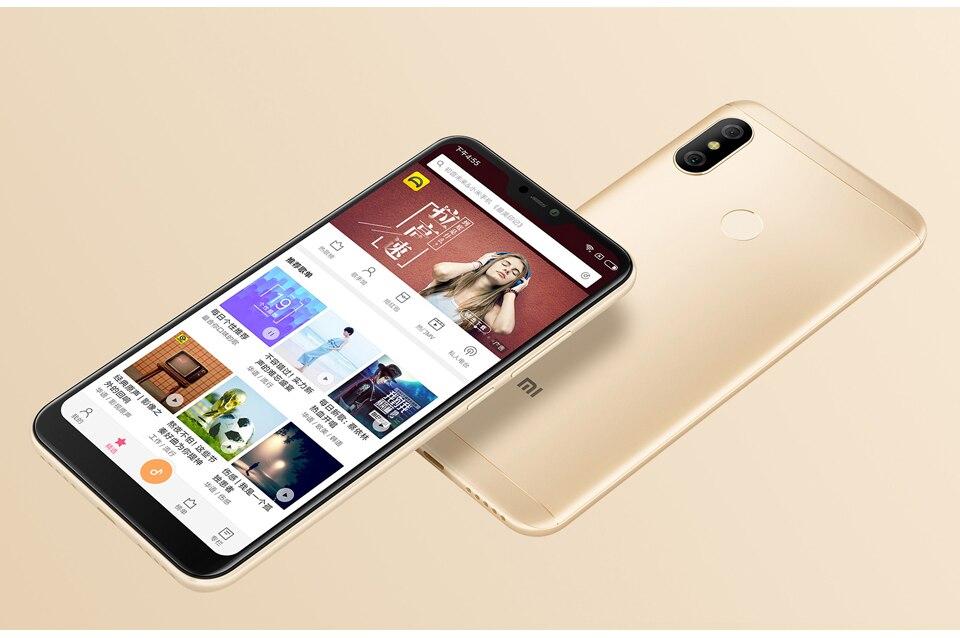 Original Xiaomi Redmi 6 Pro Mobile Phone 3GB RAM 32GB ROM Snapdragon 625 Octa Core 5.84 199 Full Screen Dual AI Camera 4000mAh (5)