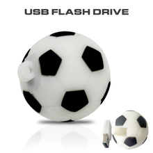 Pendrive Football USB Stick 64GB 8GB 16GB 32GB Cartoon soccer model USB 2.0 Flash Memory Pen Drive 100% Full Capacity flash disk(China)