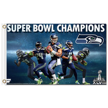Super Bowl Champions Seattle Flag World Series Football Team 3ft X 5ft Super Bowl Champions Seattle Banner(China)