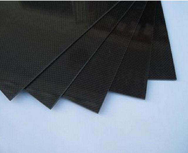 300x500x0.5mm Carbon Fiber Plate Panel Sheet 3K Plain Weave High glossy<br>