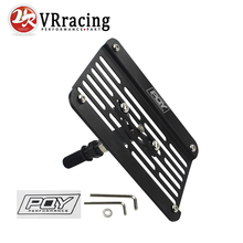 VR RACING - Multi Angle Tow Hook Mount PQY License Plate For Honda Civic EG EK ES FD with PQY Sticker VR-LPF02(China)