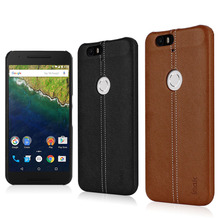 Original IMAK Back Cover for Huawei Nexus 6P Case PU Leather PC Hybrid Protective Skin for Huawei Nexus 6P Cases Black Brown