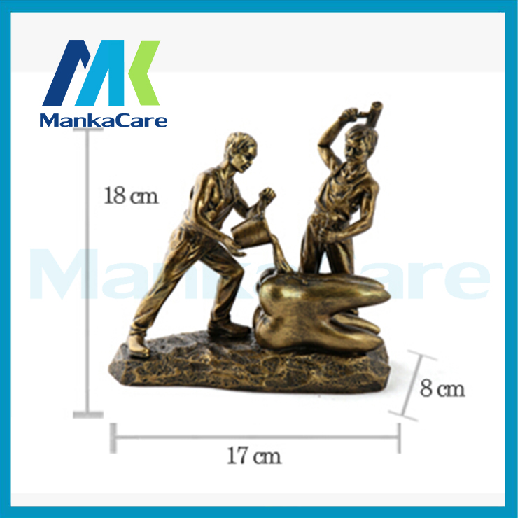 Teeth Maker art figurine resin clinic decoration europe style Handicraft furnishing articles artwork innovation dental gift<br>
