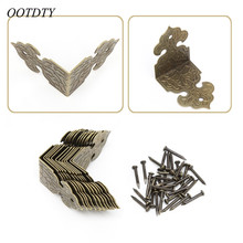 OOTDTY Decorative Corner Bracket For Furniture Wooden Box Feet Furniture Corner Protector Decorative Corbel Furniture Fittings(China)