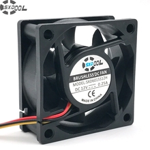 SXDOOL 6025 silent fan 12v dc 60mm 60X60X25 mm Sleeve 12V 0.18A 3 wire lead server inverter pc cpu case cooling fan(China)