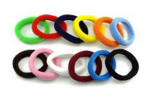 Wholesale 48 Pcs/LOT Hair Accessories For Girls Women RUBBER BANDS BLACK Striped Ponytail Holder Elastic Hair Bands(China)