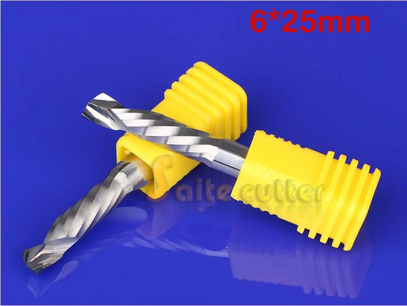 2pcs Up Down Cut 6x25MM Single Flute AAA Solid Carbide CNC Router Endmill Compression Wood Tungsten End Milling Cutter Tool Bit<br><br>Aliexpress