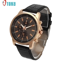 Excellent Quality OTOKY Luxury Quartz Watches Men's Fashion Geneva Quartz Clock Leather Strap Wristwatches Relogio Masculino(China)