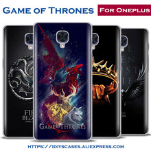 Popular Hot TV series Game of Thrones Originality Design Phone Case OnePlus 5 Personality Shell Bag For OnePlus 2 3 3t 1+5 case(China)