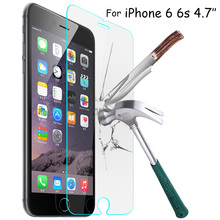 9h Tempered Glass Protective Film For Apple for Iphone 4 4s 5 5c 5s 6 6plus 6s 7 7plus Mobile Phone Screen Protector Cover+Clean(China)