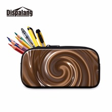 Dispalang Chocolate Pattern Pen Bag For Kids Office Multifunction Pencil Case For Women Students Pencil Holder Makeup Case(China)